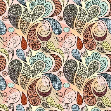 vector seamless ethnic abstract pattern