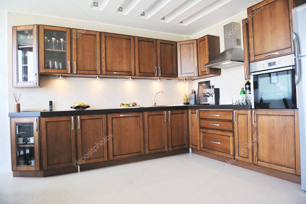 Modern kitchen interior design in new home