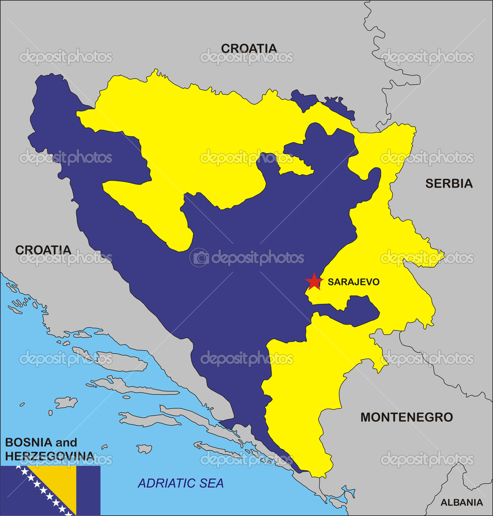 Bosnia And Herzegovina Map Stock Photo Tonyurban - Bosnia and herzegovina map