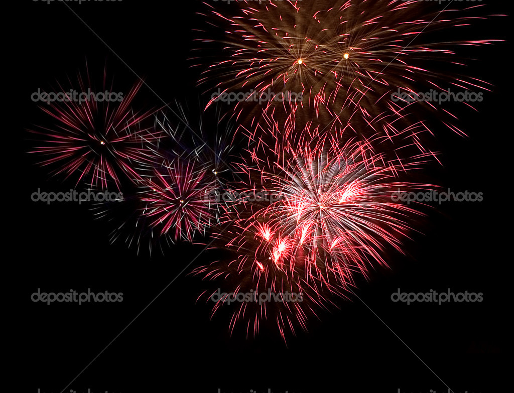 Red Fireworks Free Stock Photo: Stock Photo © Dr.PAS #6260448
