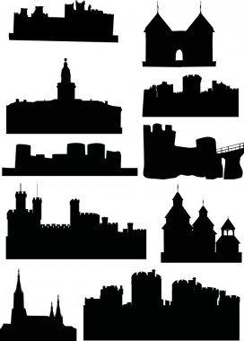 set of castles and towers