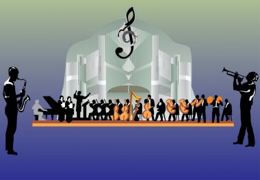 large orchestra illustration