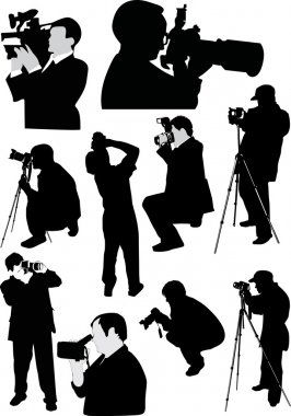 ten photographer silhouettes