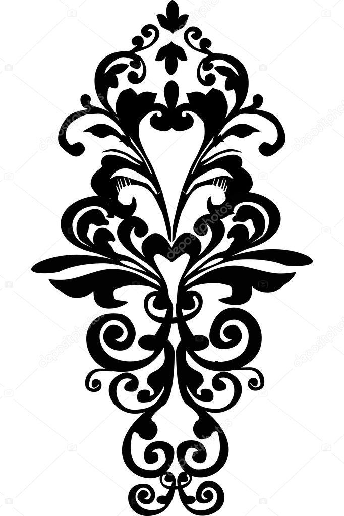 symétrique simple noir — image vectorielle #6260576