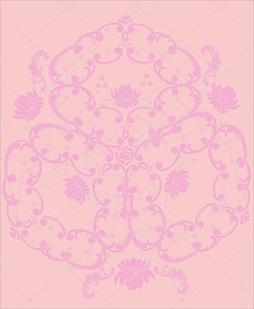 Light Pink Flower Background Stock Vector Drs 6260597
