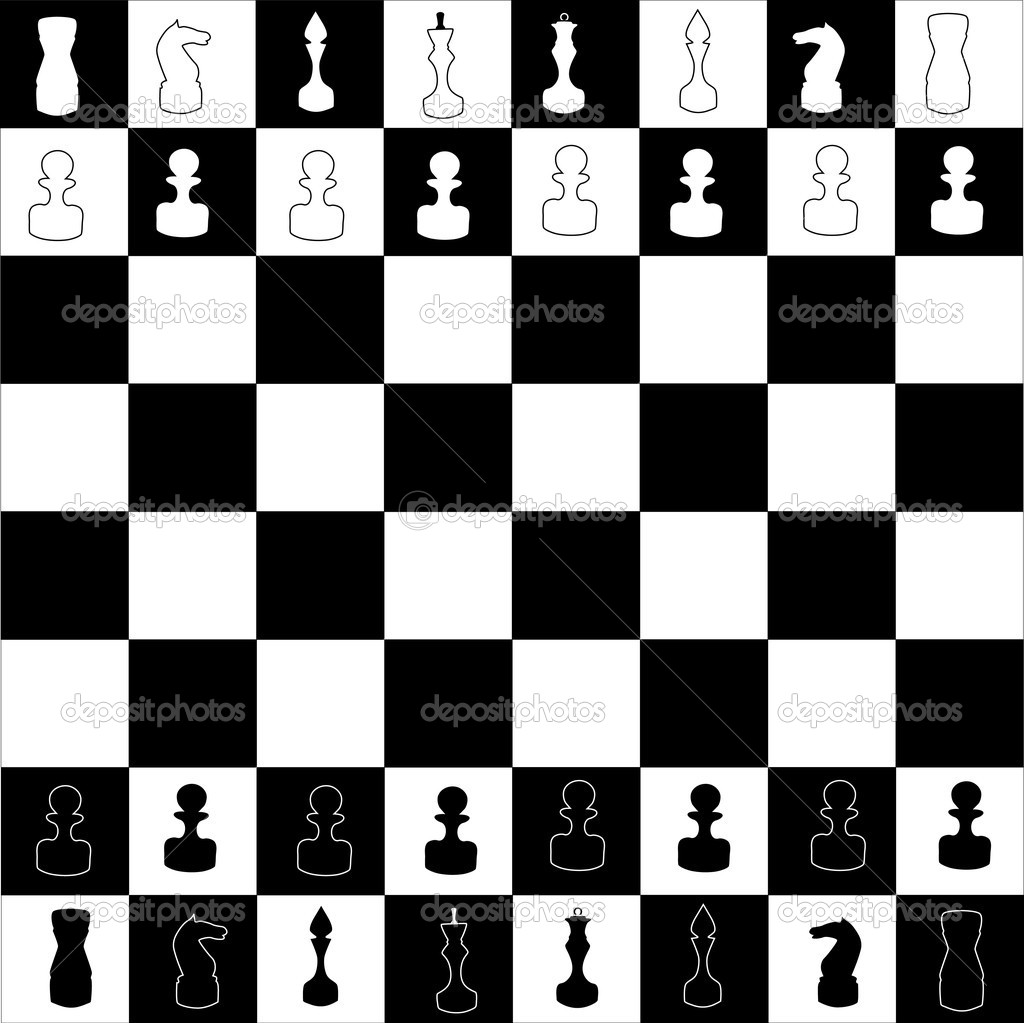 chess board illustration u2014 stock vector dr pas 6260714