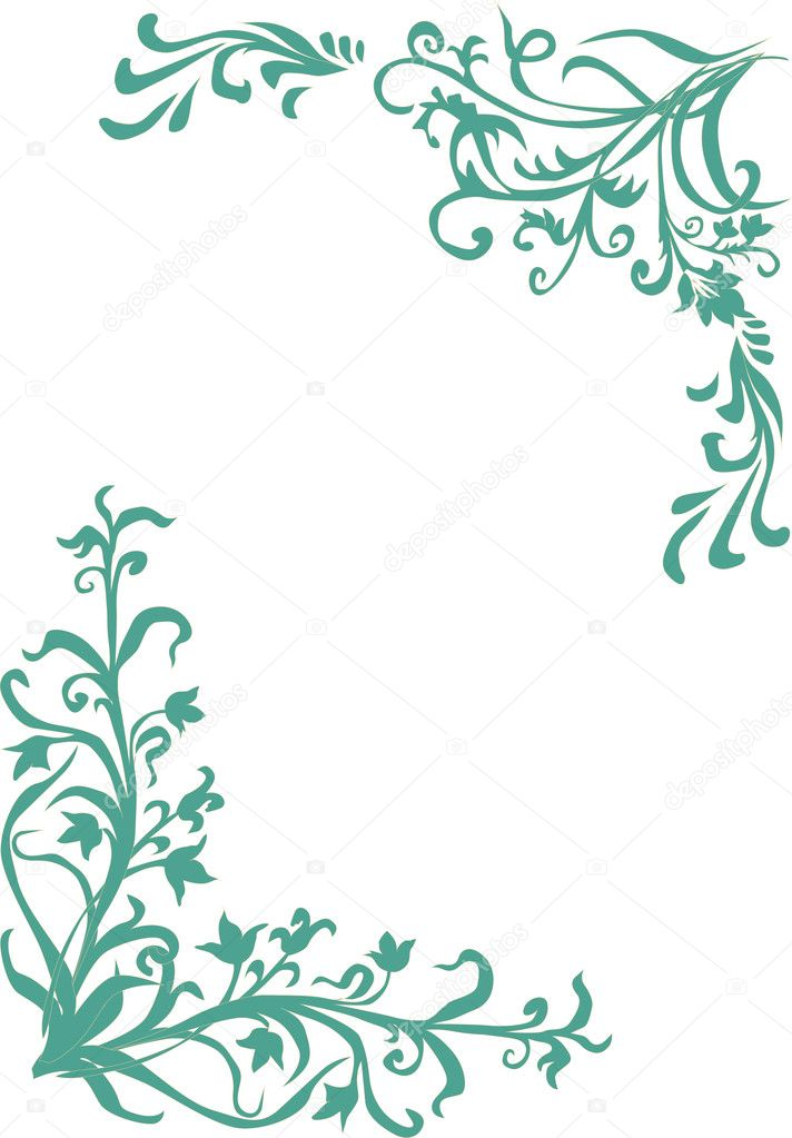 Simple Blue Frame Stock Vector