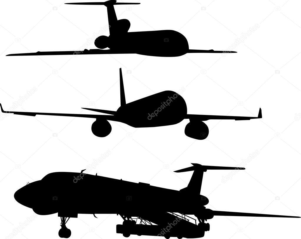three airplane silhouettes u2014 stock vector dr pas 6261591