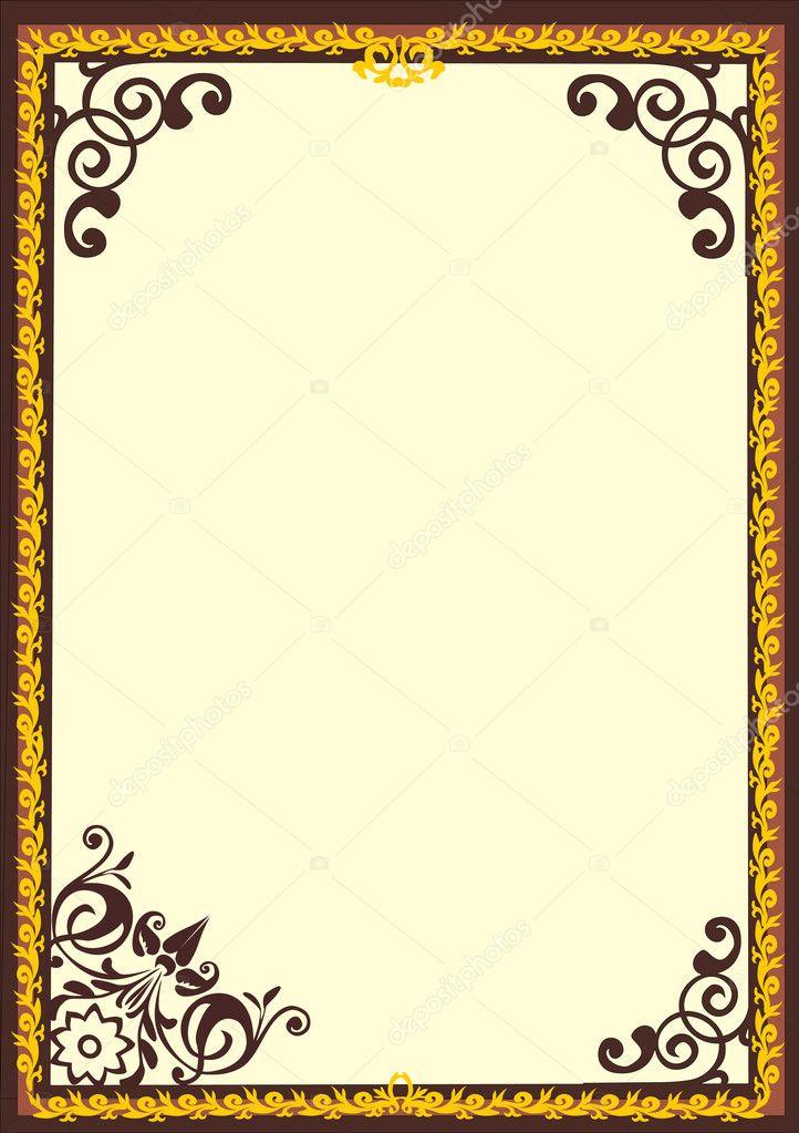 cadre simple brun et jaune image vectorielle dr pas 6328002. Black Bedroom Furniture Sets. Home Design Ideas