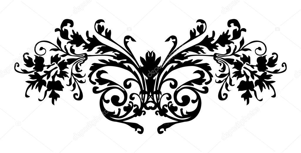 motif noir avec boucles — image vectorielle #6328477