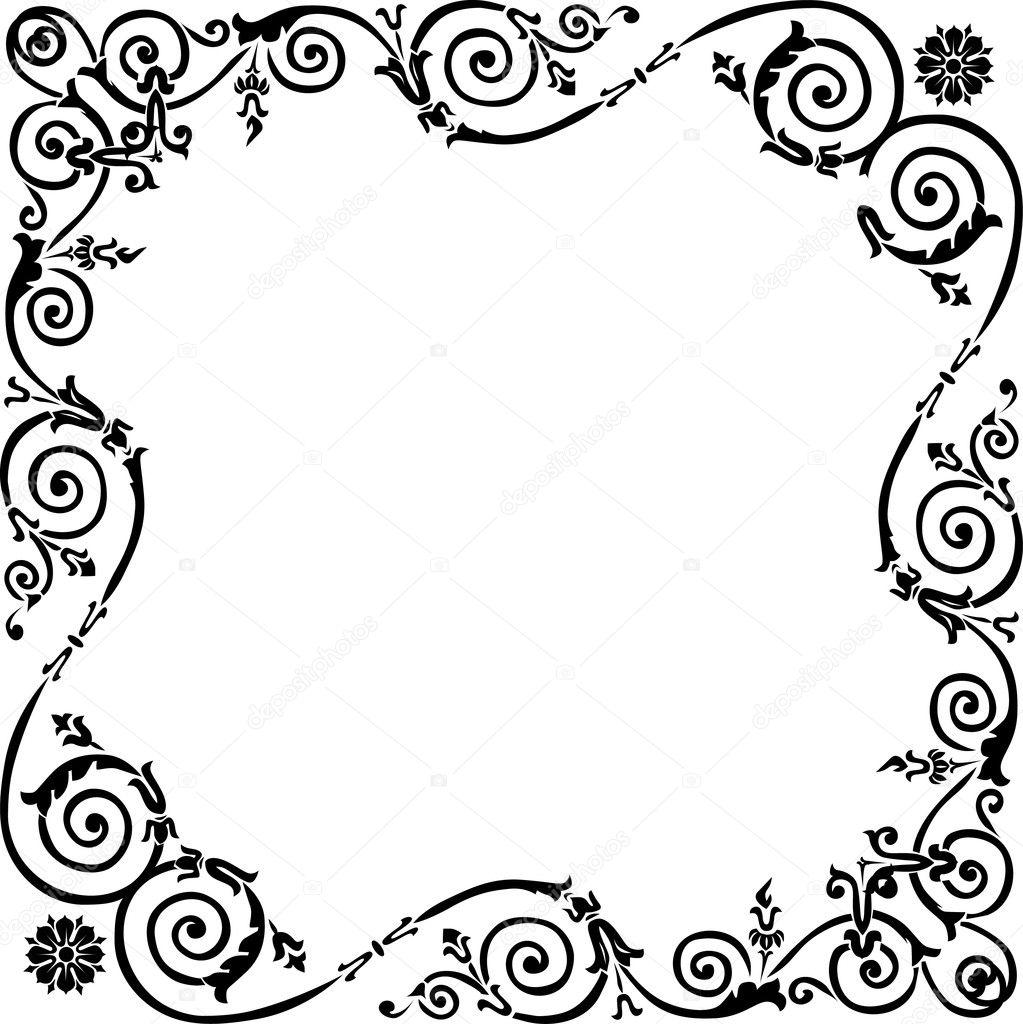 ロック付きのシンプルな黒いフレーム — ストックベクター © Dr.PAS #6328901