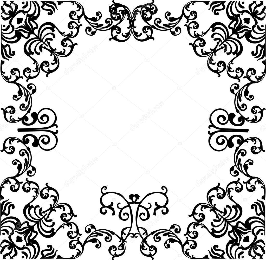 marco ancho negro — Archivo Imágenes Vectoriales © Dr.PAS #6329286