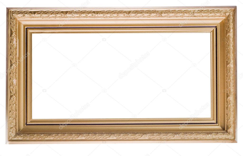 Wide golden frame — Stock Photo © Dr.PAS #6414982