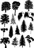tizenöt fa sziluettek