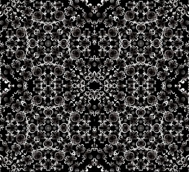 white symmetric abstract square pattern