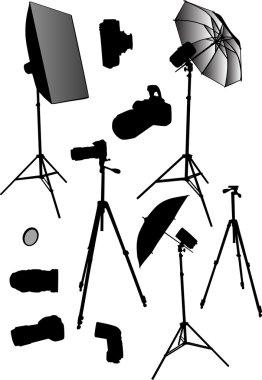Photo studio equipment collection