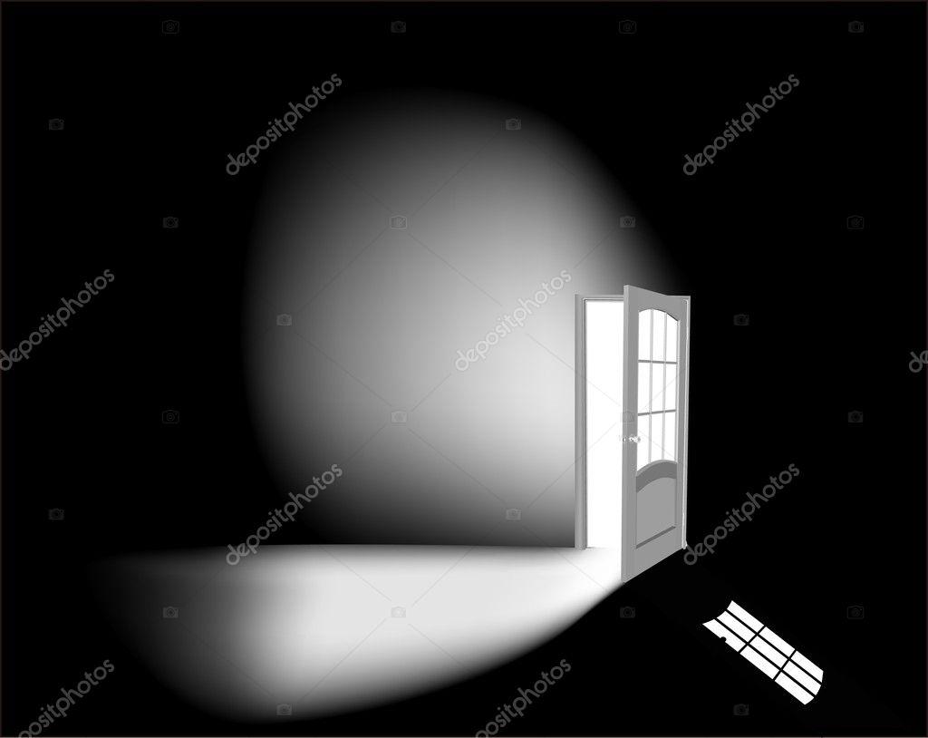 Open White Door
