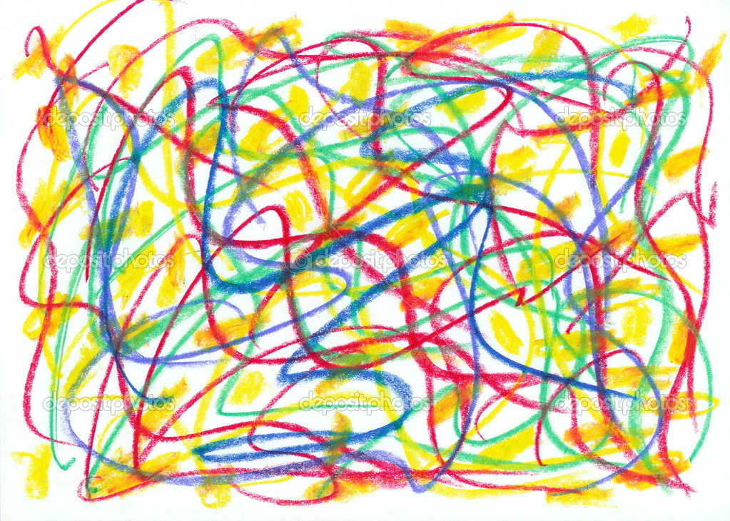 Crayon Scribble Drawing : Child scribble — stock photo anrobrook