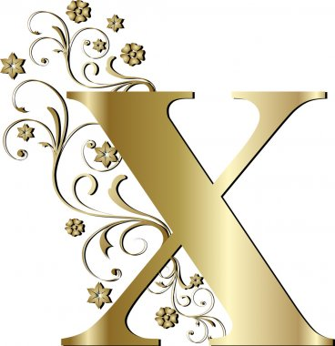capital letter X gold