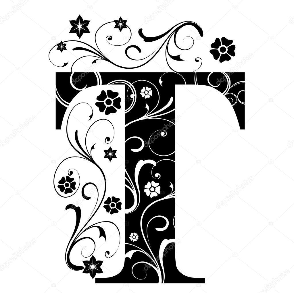 letra capital t — Vector de stock © pdesign #6057183