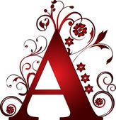 Capital letter A red