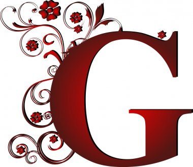 capital letter G red