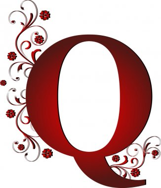 capital letter Q red