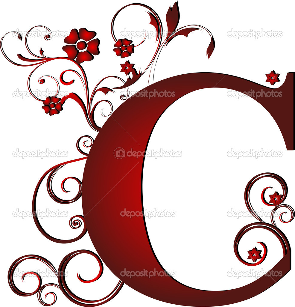 Capital Letter C Red  U2014 Stock Vector  U00a9 Pdesign  6072102