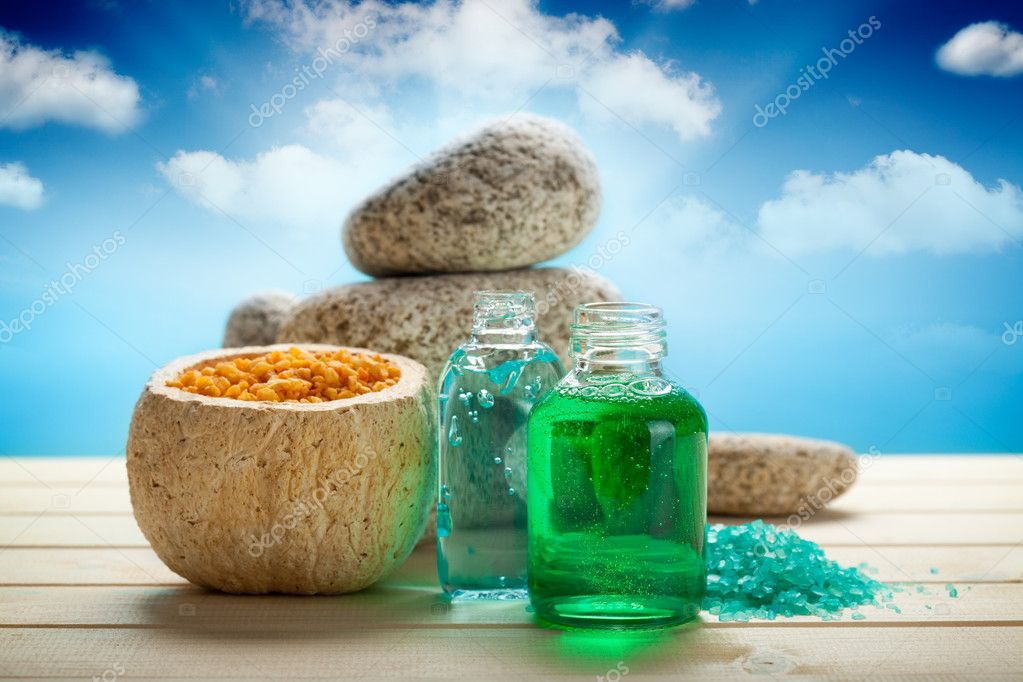 Aromatherapy - essential oils and bath salt