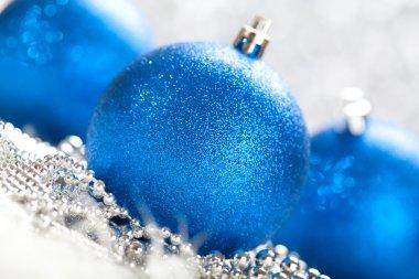 Christmas - blue balls