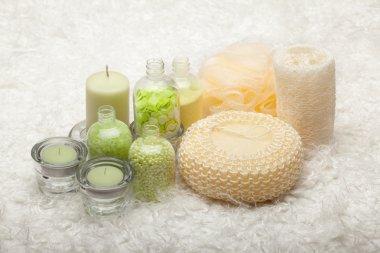Bath - salt and massage tools