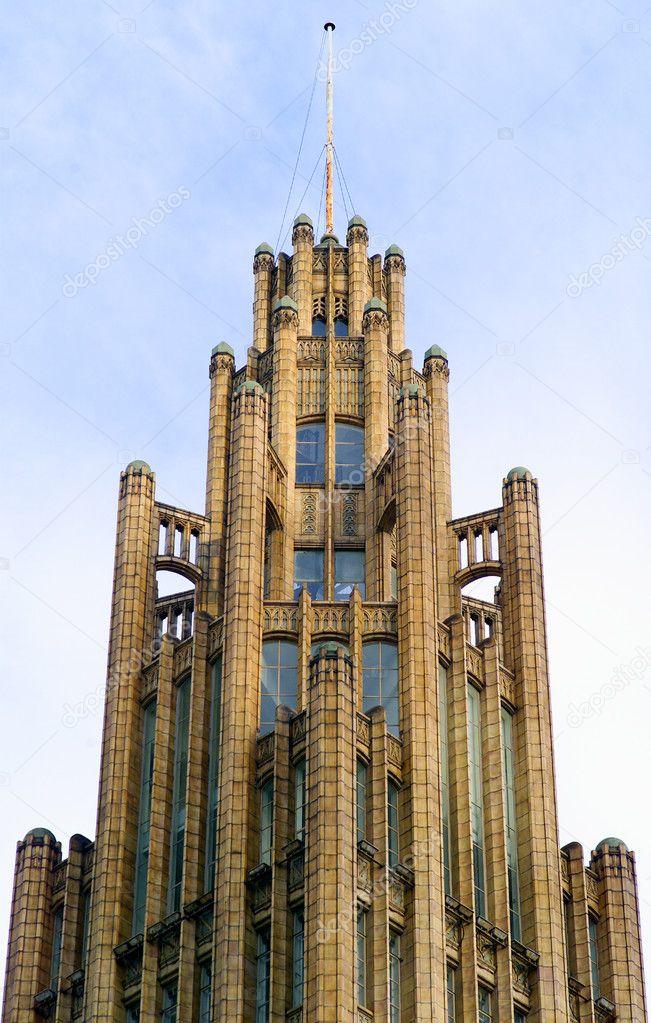 Detail Close Up Of Ornate Exterior Neo Gothic Art Deco Building Melbourne Victoria Australia Photo By Slovegrove