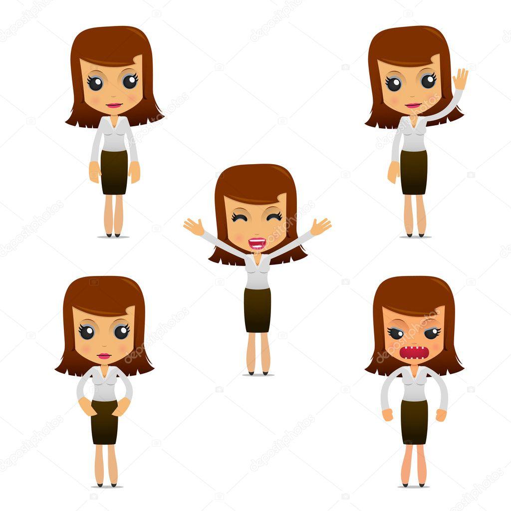 depositphotos_5726698 stock illustration set of funny cartoon businesswoman set of funny cartoon businesswoman stock vector � artenot 5726698,Download Funny Cartoons