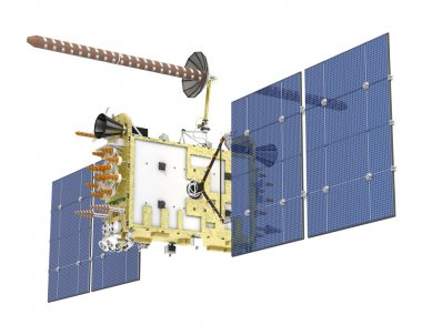 Modern GPS satellite isolated