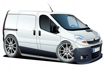 Vector cartoon van