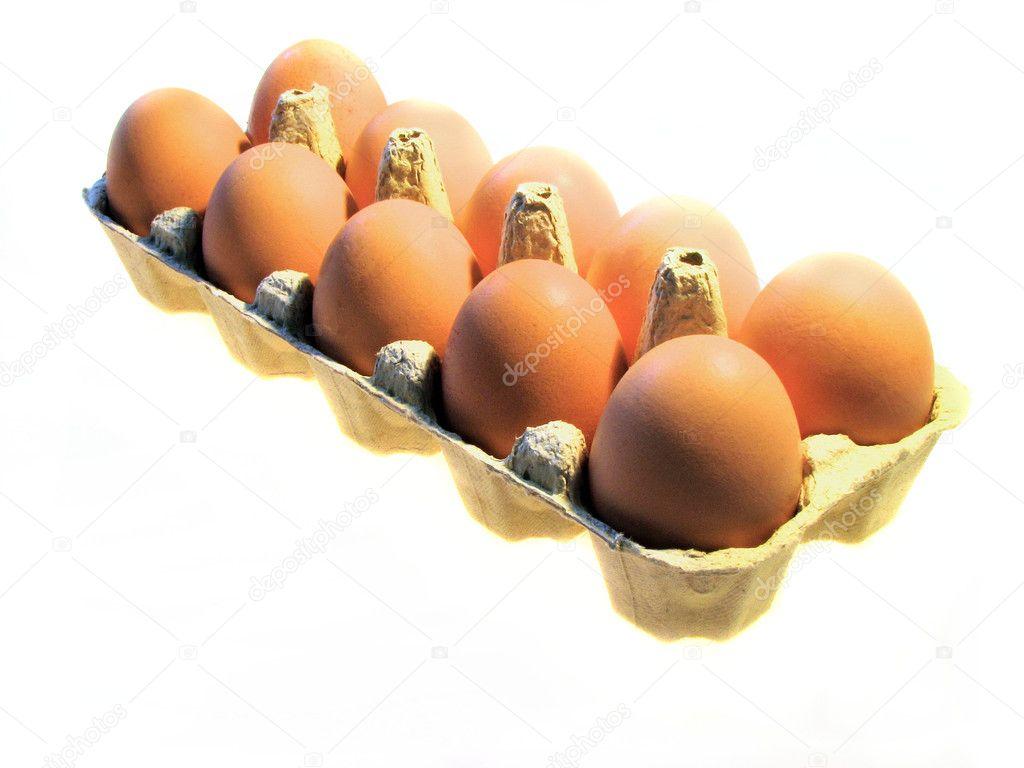 Unos huevos en bandeja foto de stock blueminiu 5425699 for Bandejas para huevos