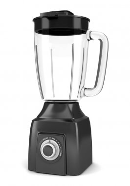 Modern black blender isolated on white background