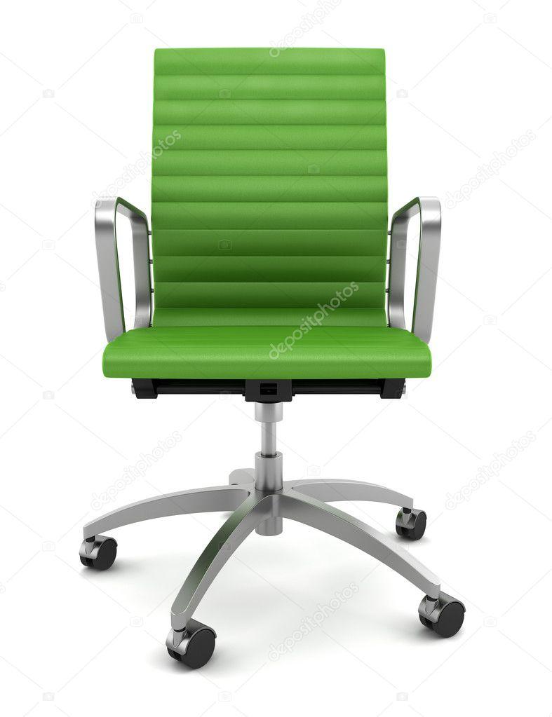 Sedia ufficio moderno verde isolato su sfondo bianco for Mobili ufficio stock