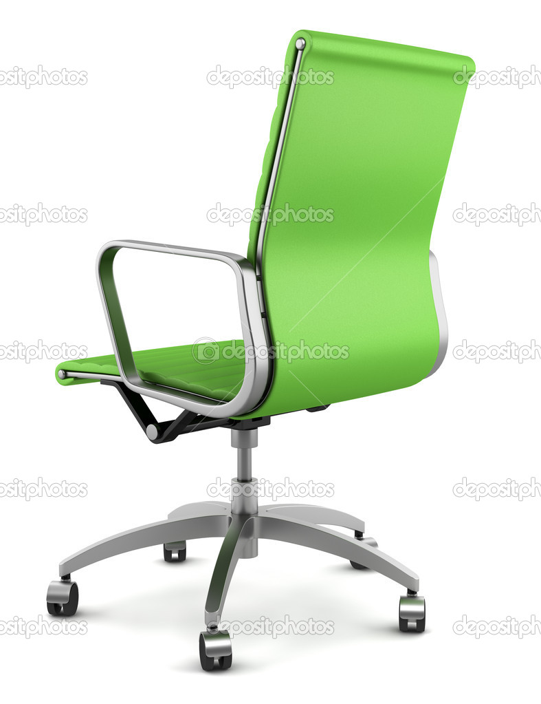modern green office chair isolated on white background — stock  - modern green office chair isolated on white background — stock photo