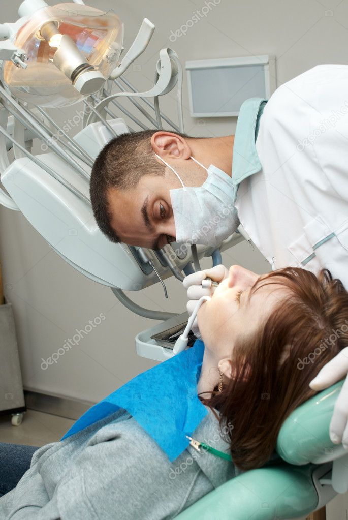 Medical treatment at the dentist office