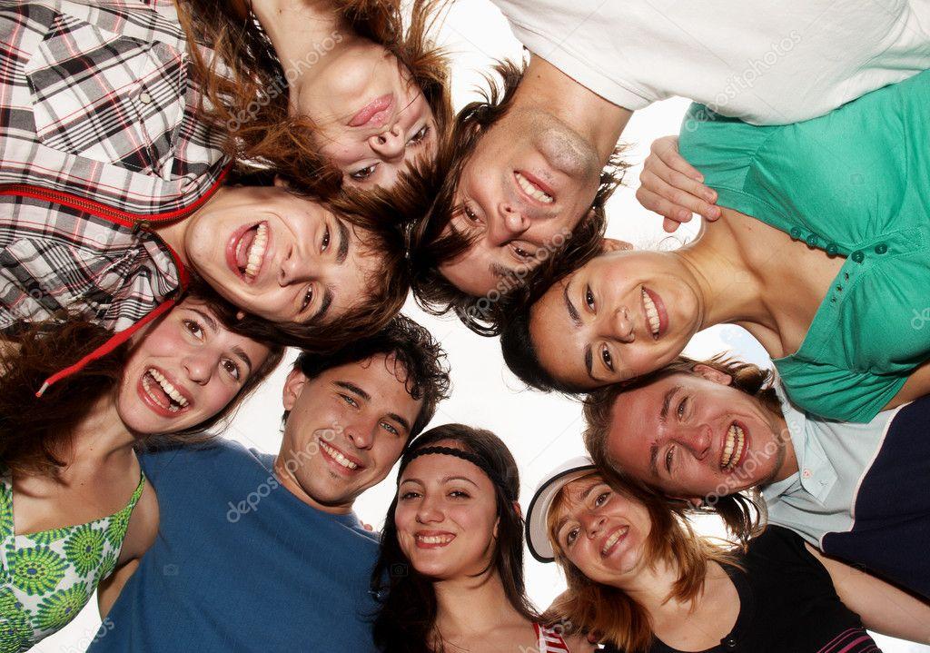 Cheerful young having fun summer holidays.