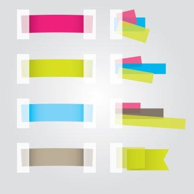 Web page Sticker Designs. Vector illustration