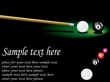 Snooker table card design