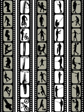 Silhouette in film tape