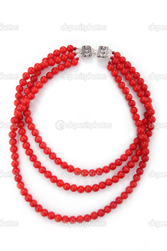 elegante colar de coral fotografias de stock gsermek 5545551