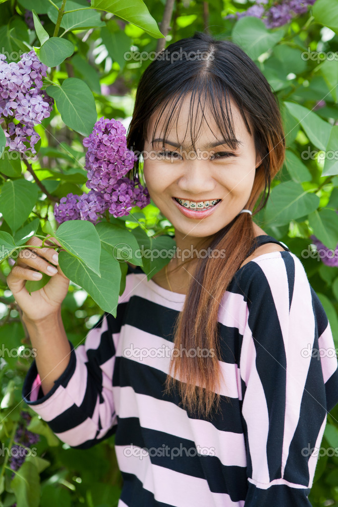 Thai woman with braces