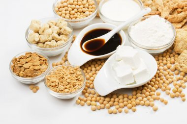 Soy sauce with other products made from soybean