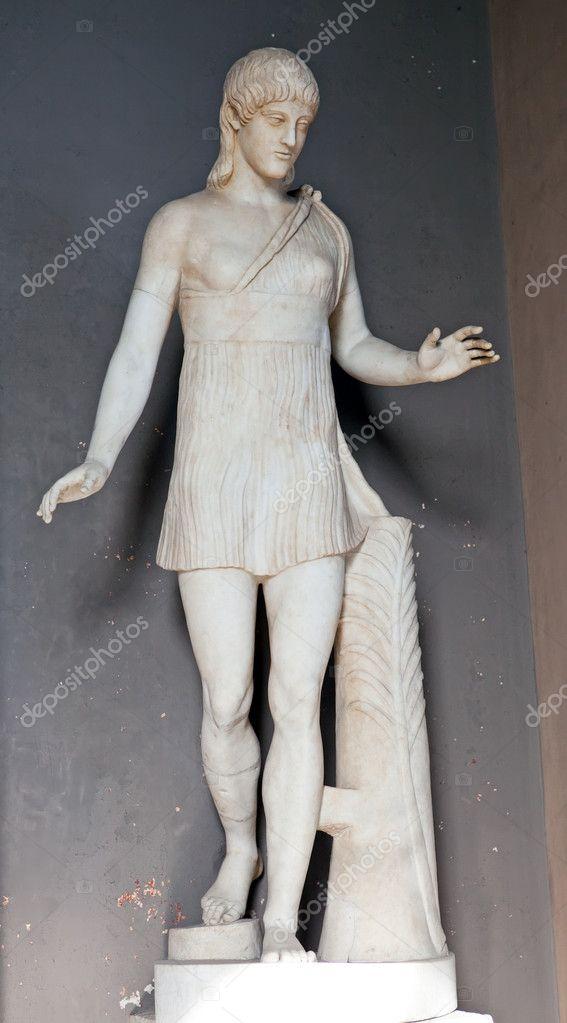 Vatican. A museum. A statue, presumably the hermaphrodite