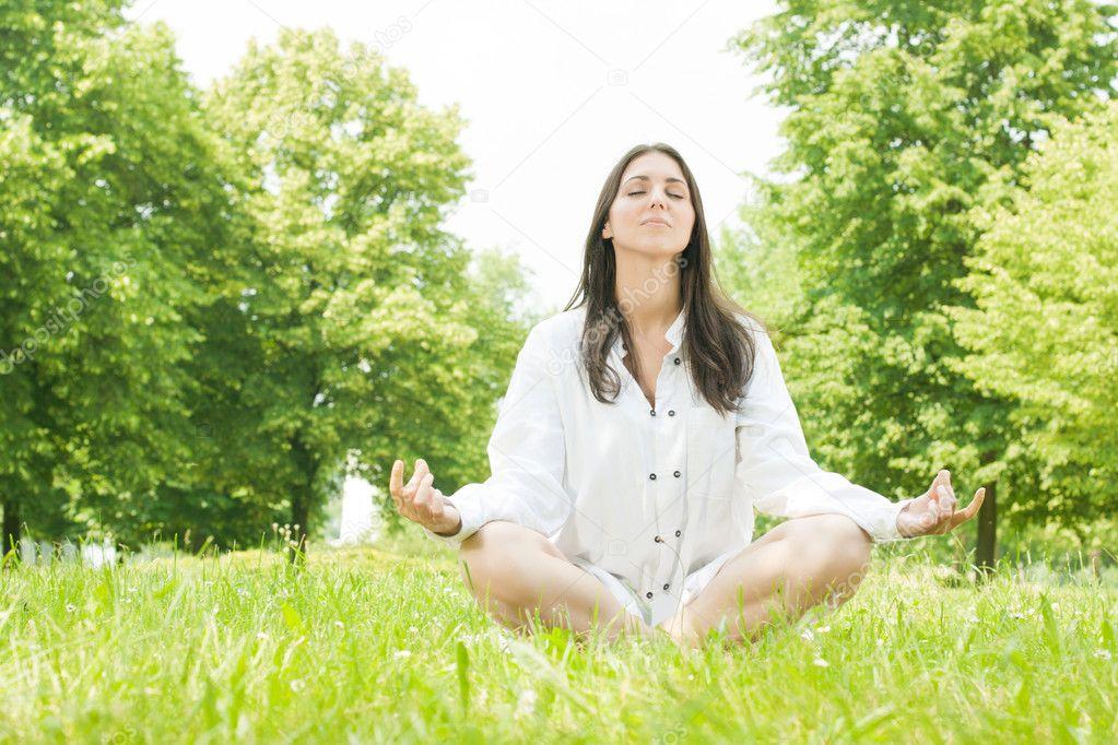Yoga woman meditation pose