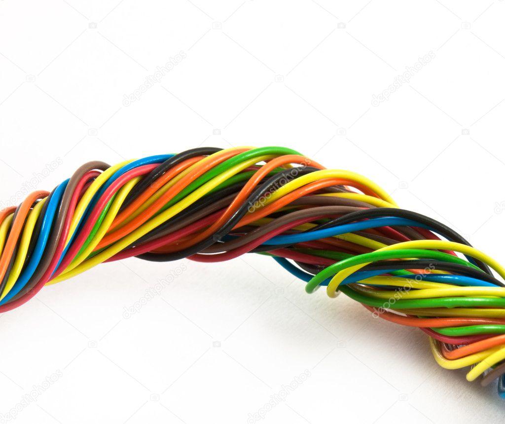 Bundle of color cables — Stock Photo © vtorous #5776215